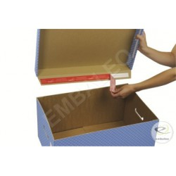 Contenitori per scatole per archivio con coperchio colore grigio 43 x 33,5 x 27 cm
