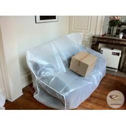 Fodera per divano bolle d'aria + materiale espanso