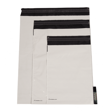 Bustine di plastica opache con soffietto Embaleo n° 1 27,5 x 35 cm 60 µ