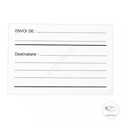 """Etiquette """"DESTINATAIRE EXPEDITEUR"""""""