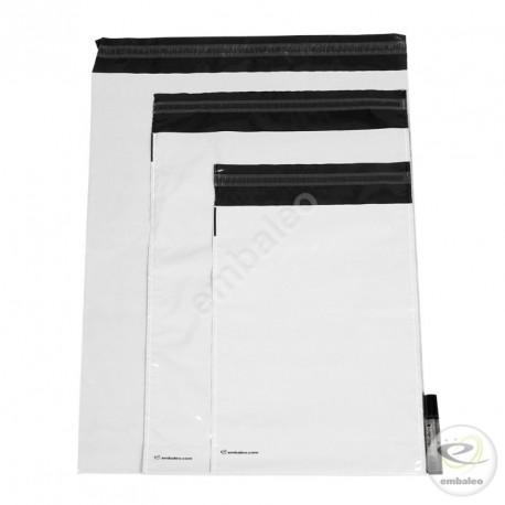 Pochettes plastiques opaques à soufflet Embaleo n°2 36,5 x 46 cm 60µ