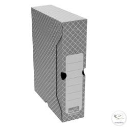 Scatola per archivio grigia 32,2 x 7,8 x 24,9 cm