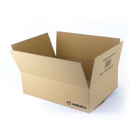 Carton simple cannelure 45x32x12 cm