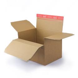 Scatola di cartone ad altezza variabile e fondo automatico (30,4 x 21,6 cm) con striscia autoadesiva